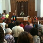 Supporters outnumber anti-gay protesters at Concord churches