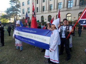 Members of an Eden, N.C. KKK group joined neo-Nazi protesters.