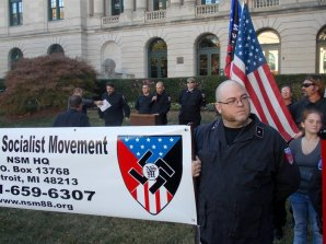 Hate groups rally at Old City Hall.