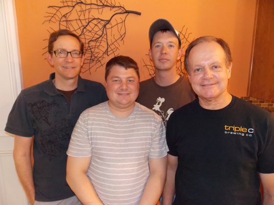 Charlotte Pride Co-Directors Craig Hopkins and Richard Grimstad,  Entertainment Chair Jonathan Hill and Parade Chair Dave Webb.