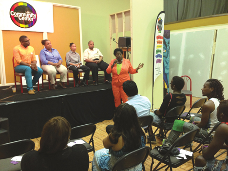 A town hall meeting was held during Charlotte Black Gay Pride at the LGBT Community Center of Charlotte. City Councilmember LaWana Mayfield hosted. File Photo