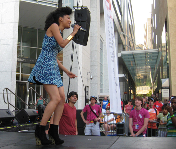 Judith Hill performed at Charlotte Pride in August. Photo Credit: Lainey Millen