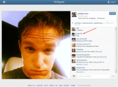 Screenshot showing Nelson Piquet's anti-gay slur. Click to enlarge.