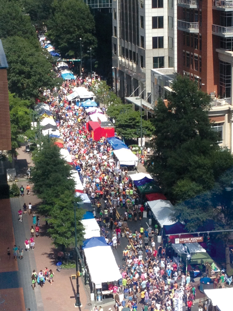 A record-breaking crowd was in attendance  for the Charlotte Pride festival and parade  this year. Photo Credit: Kyle Snipe