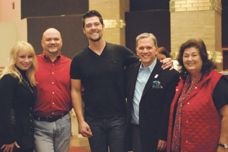 Pictured left to right: singer/songwriter Christy Sutherland, Different Roads Home President/Founder Dale J.Pierce, Jason Crabb, Different Roads Home Treasurer Edward Harrell, Jeanne White-Ginder.  Photo Credit: June Wessinger/BlueSun Photography