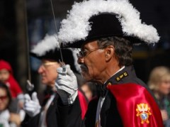 A member of the Knights of Columbus in a past Charlotte St. Patrick's Day Parade.