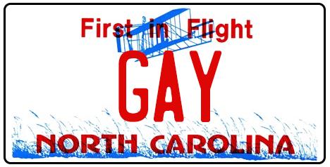 ncgaylicenseplate-gay