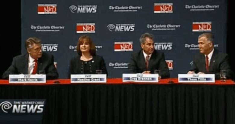 Republican U.S. Senate candidates (L-R): Mark Harris, Heather Grant, Greg Brannon, Thom Tillis