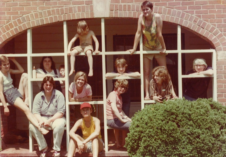 Women, including Caliendo, involved with the Women's Center gather during a summer afternoon, circa 1977. Photo courtesy Concetta Caliendo