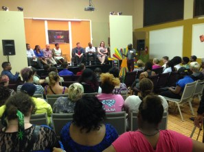 About 75 attended Charlotte Black Gay Pride's town hall forum.