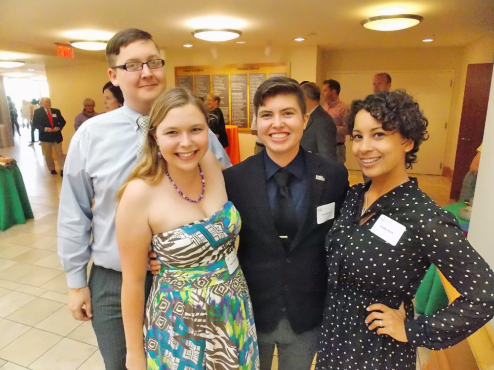 Campus Pride Summer 2014 fellows staff (L-R): D. Andrew Porter, Isabel Williams, Finn Barton and Rebby Kern.
