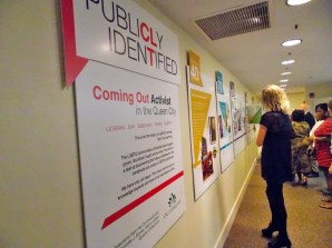Local LGBT history timeline exhibit at Levine Museum of the New South.