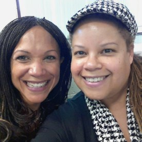 Pam Spaulding, right, with MSNBC host Melissa Harris-Perry, left. Photo courtesy Pam Spaulding.