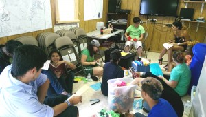 Camp Out participants volunteering at the Charlotte Humane Society.