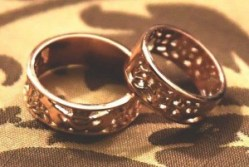 Joel Blady and Jeff Addy selected custom rings for their ceremony.