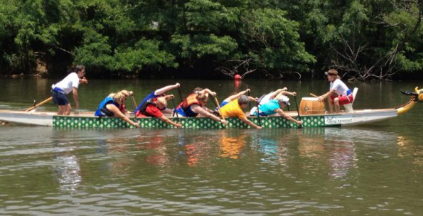 Dragon boat racing has become a popular sport for those who love 'taking to the water.' Photo Credit: Denise Bauer