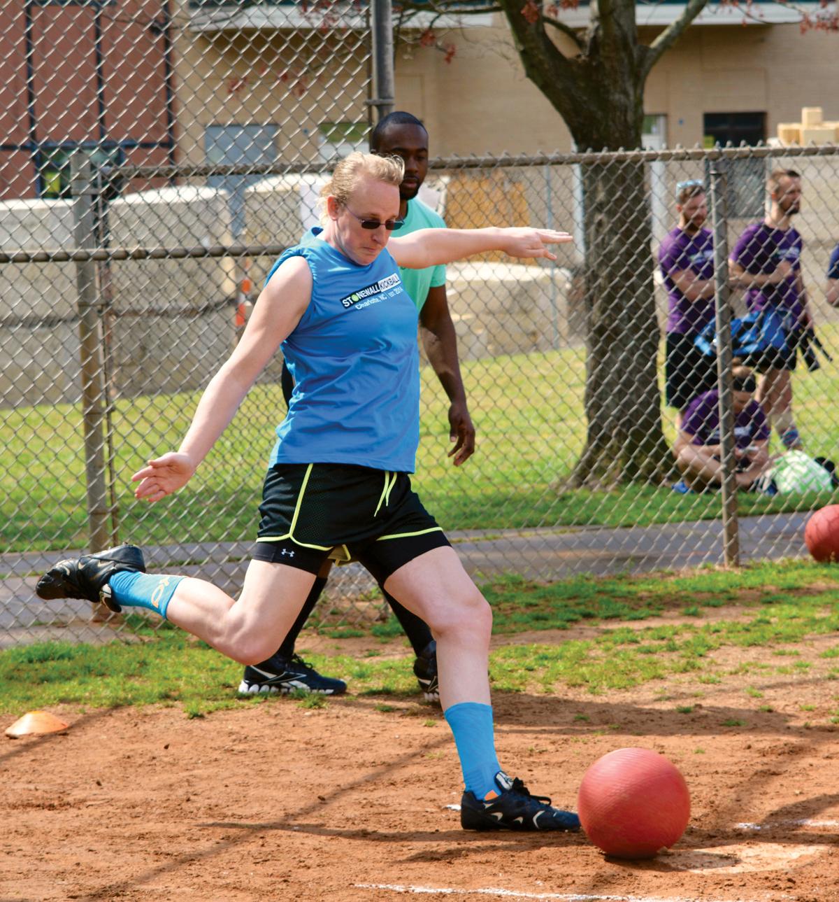 Homosexual and kickball