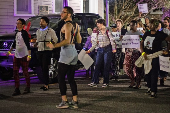 Charleston dance party with WERK for Peace founder FIras Nasr (in shorts and suspenders). Photo Credit: Everett Zuraw
