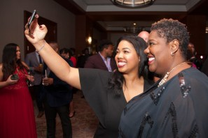 Erin Barbee and Charlotte City Councilmember LaWana Mayfield (right)