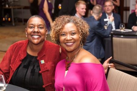 Equality North Carolina Executive Director Kendra Johnson (left) enjoying the festivities.