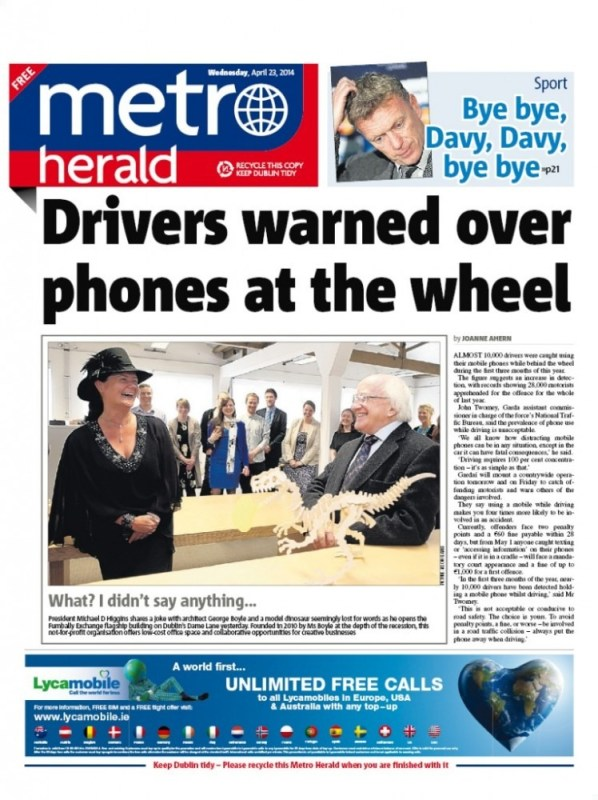 Us on the cover of Metro Herald