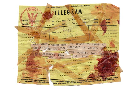 Bloodstained Telegram from Grand Budapest Hotel