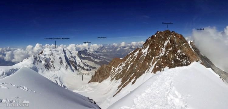 Panorama z Zumsteinspitze