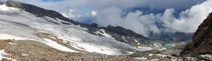 Zejście na lodowiec Indren