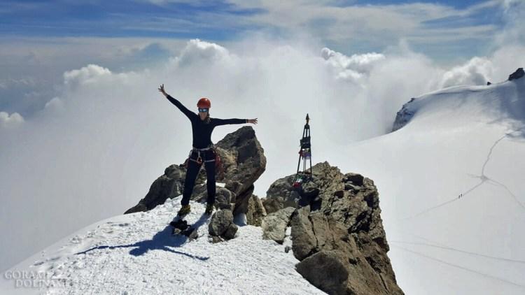 Na szczycie Zumsteinspitze
