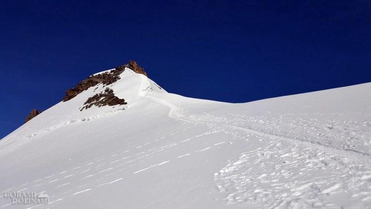 Podejście na Zumsteinspitze