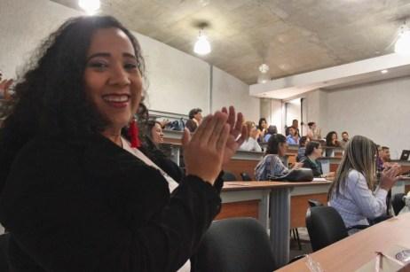 Aura Brito activa en el Meet Up de Comunidades Digitales