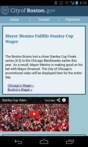 Boston web site take over