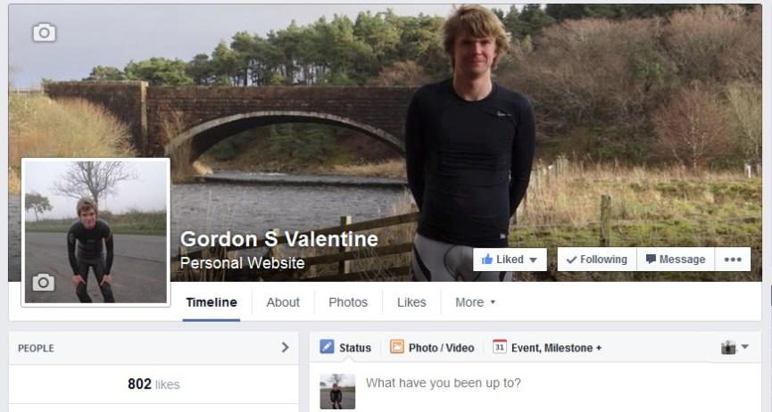Gordon Valentine   facebook fan page   802 fans
