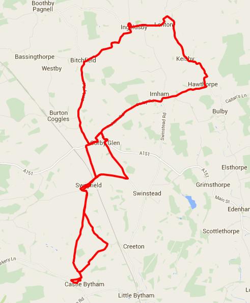 25-01-2016 - bike ride route