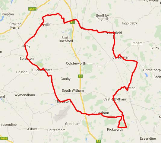 03-03-2016 - bike ride route map