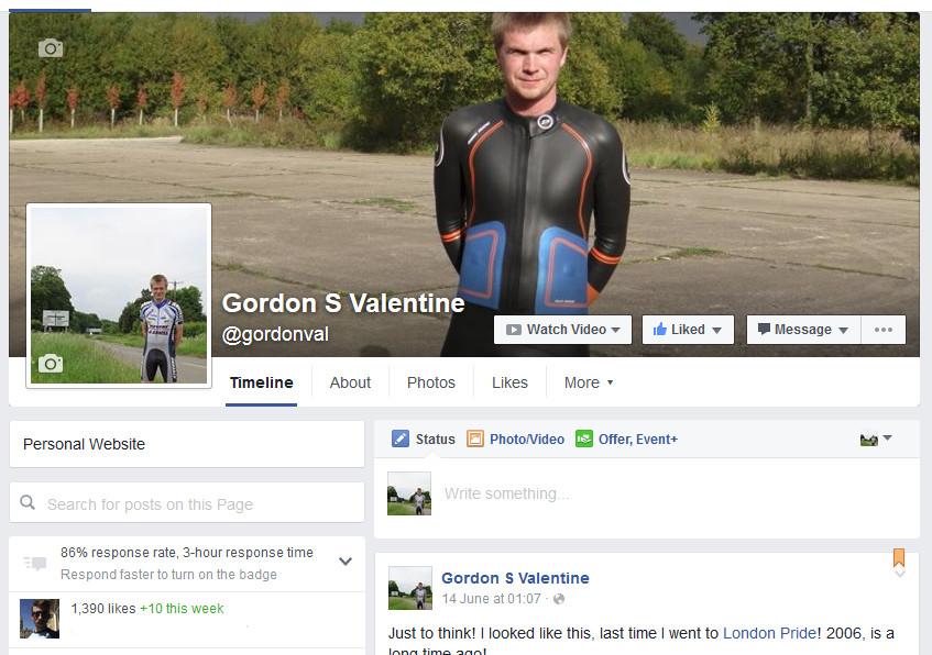 Gordon Valentine | facebook fan page | 1,390 fans