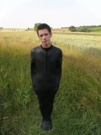 Nick in neoprene sleepsack