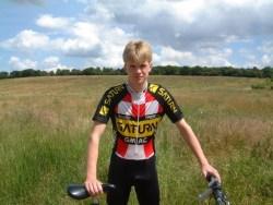 Team Saturn cycling lycra skinsuit