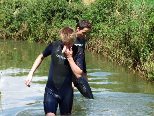 Lubor and myself having fun in wetsuits