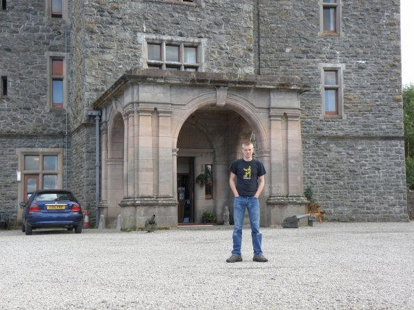 Outside the Carbisdale Castle youth hostel