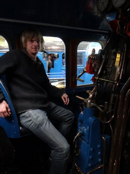 Myself driving the Mallard!