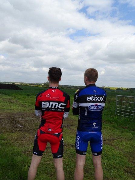 Nick and myself cycling