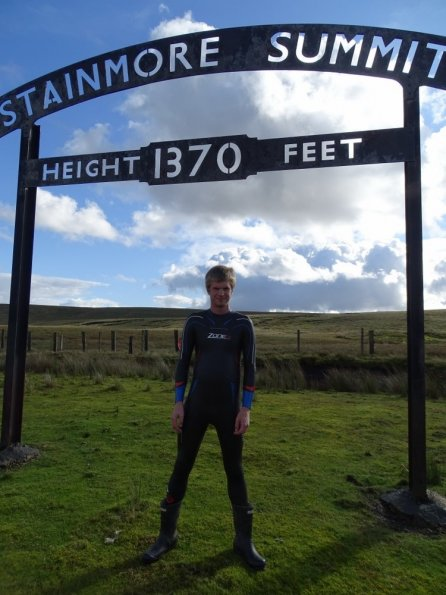 Zone3 Vision wetsuit @ Stainmore Summit