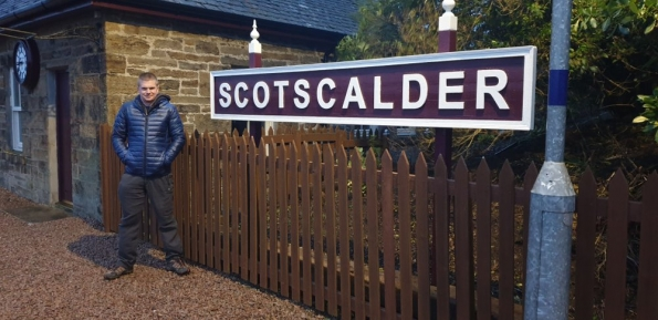 Myself at Scotscalder railway station