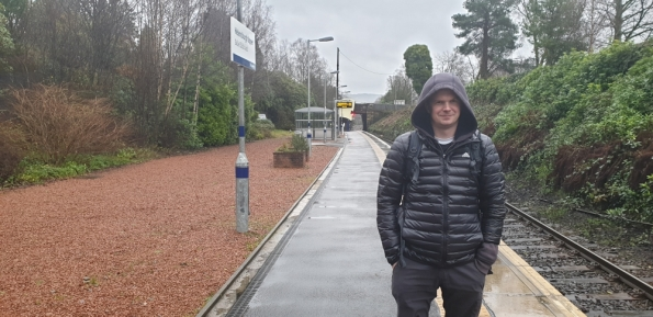 Myself at Helensburgh Upper railway station