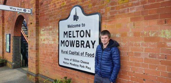 Myself at Melton Mowbray railway station