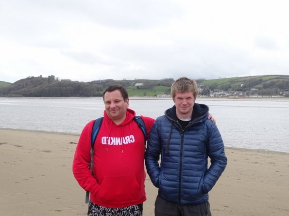 Mark T and myself somewhere in Wales