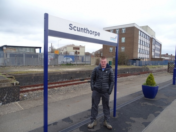 Myself at Scunthorpe railway station