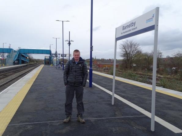 Myself at Barnetby railway station