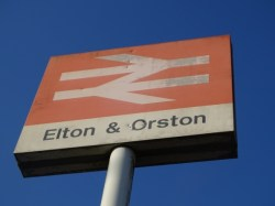 Elton and Orston railway stationn
